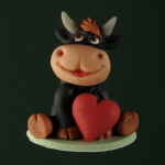 Bull with heart