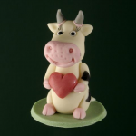 Cow with heart