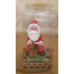 Santa on package with Teddy bear