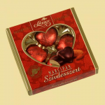 Heart dessert in an ornamental box 4 pcs