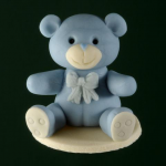Sitting bear, boy