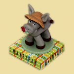 Donkey with hat