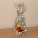 Basket with marzipan fruits