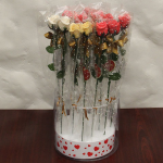 Roses in cylinder 14 pcs