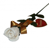 Marzipan rose, white