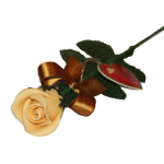 Marzipan rose, yellow