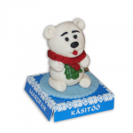 Polar bear with fir